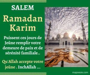 Belle image bon Ramadan - Carte Ramadan Karim